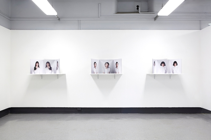 alone / together, Exhibition view of stereoscopic artworks 'selfies'. Sydney College of the arts post grad show 2013