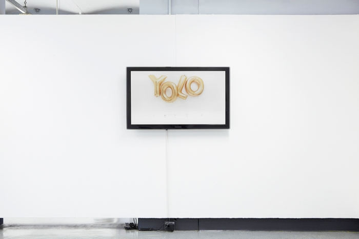 alone / together, exhibition view of time-lapse artwork 'yolo'. Sydney College of the arts post grad show 2013